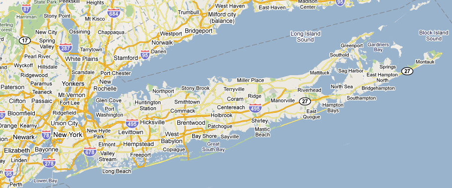 Hamptons Map Long Island